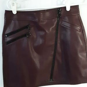 Faux leather mini